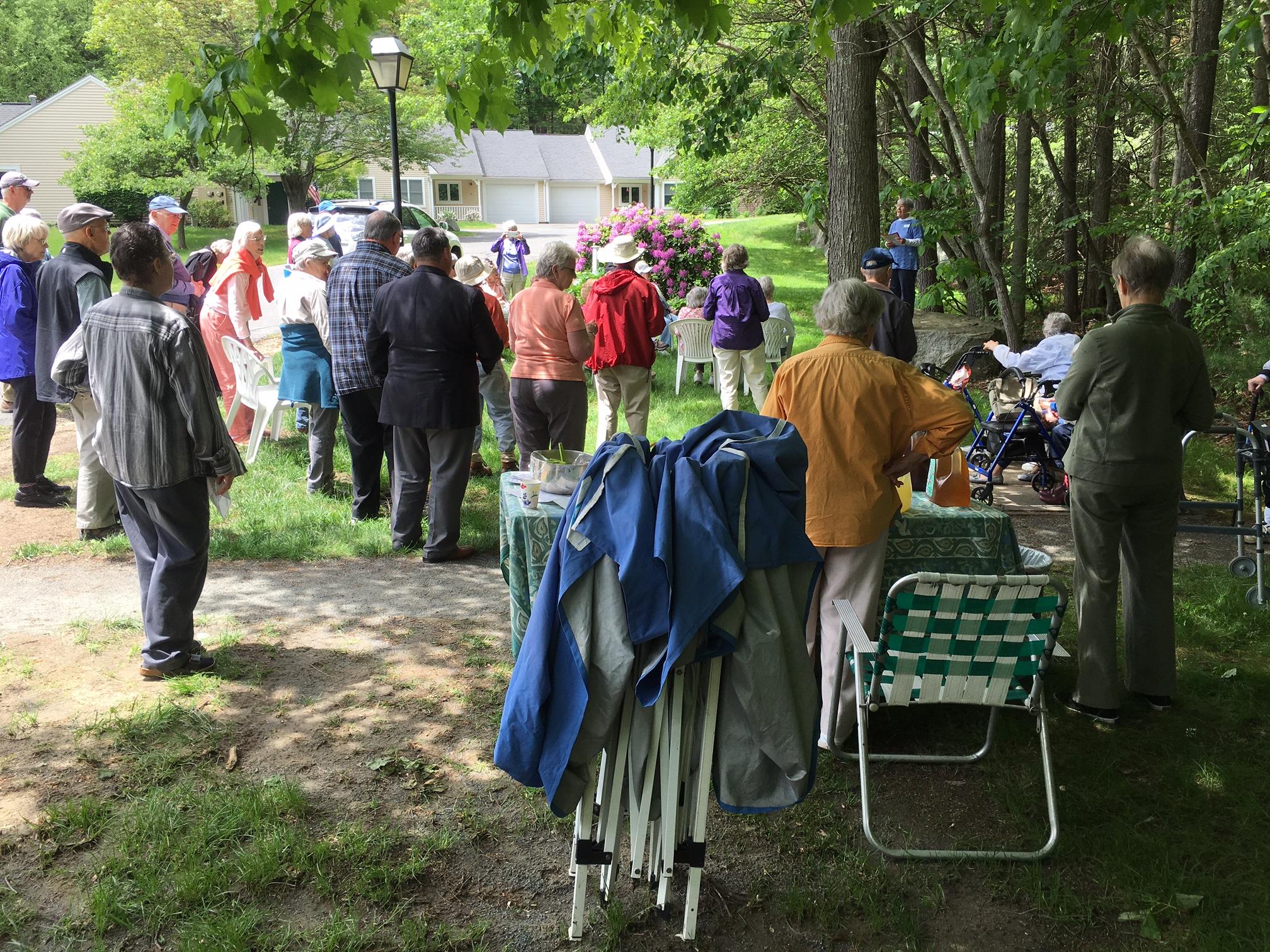 Trail Dedication Ceremony At The Lathrop Community, Northampton, MA